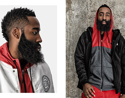 Sports Advertising portrait of NBA athlete James Harden