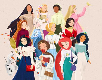 Collection: Muslim Disney princess