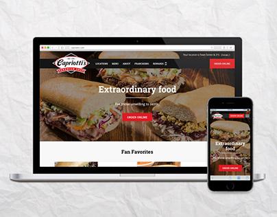 Capriotti's Website Redesign