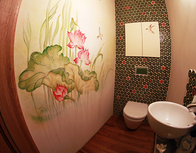 """Lotus Land"" - lower toilet in the Karin's house..."