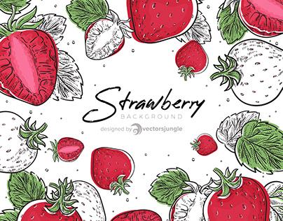 Strawberry Fruit Background