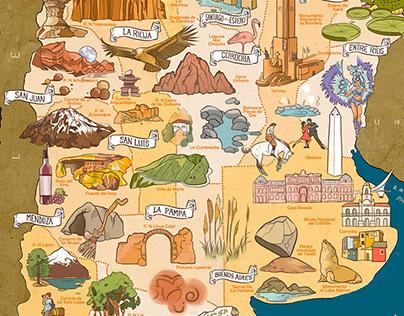 Mapoteca: Argentina Ilustrada.
