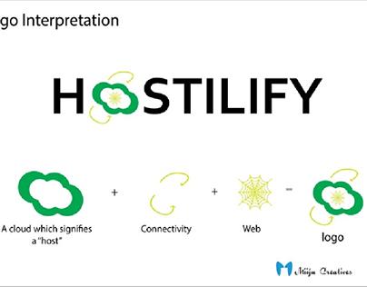 A logo interpretation for Hostilify.