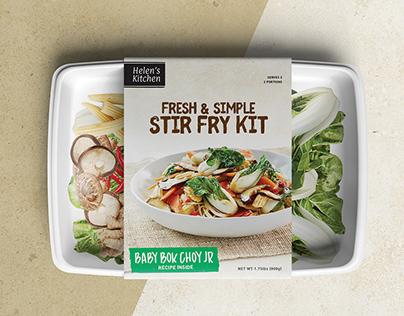 Stir Fry Meal Kit Package Design