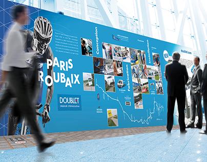 Mur d'images Paris-Roubaix Groupe Doublet