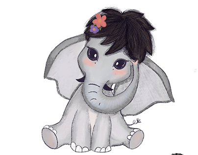 Elephant Illustration - Character design