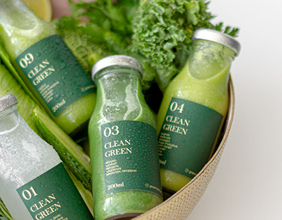 Ayurvedic detox smoothie drink packaging design