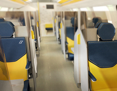 Train - Interior Rendering