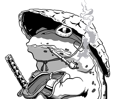 Samurai Frog - Digital Illustration