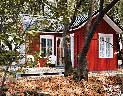 A red cabin
