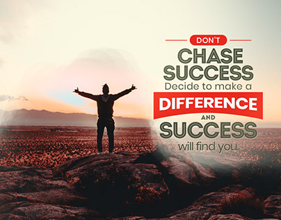 Don't Chase Success