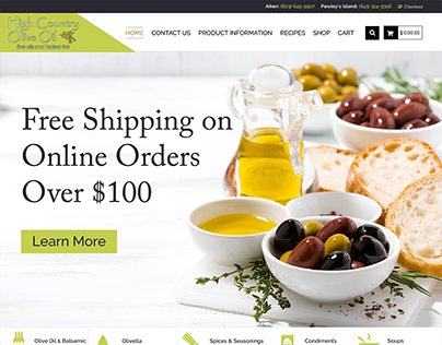 High Country Olive Oil Web Design