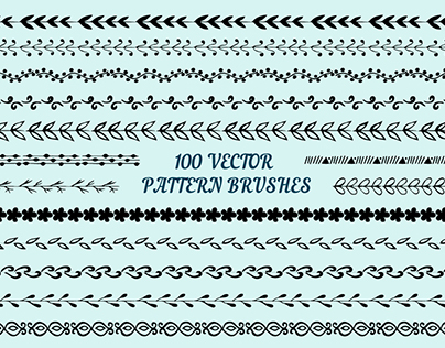 100 vector pattern brushes