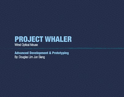 Project Whaler Wired Optical Mouse