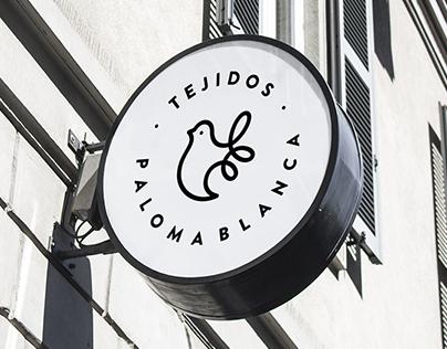 Tejidos Paloma Blanca Branding.