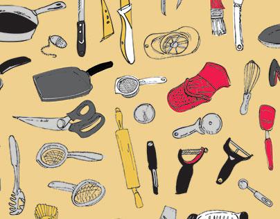 Bradshaw International - Kitchenware Pattern