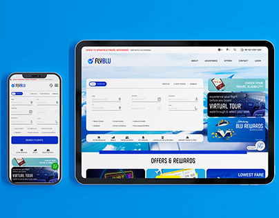 Airline Booking Mobile & Web page Design UI & UX
