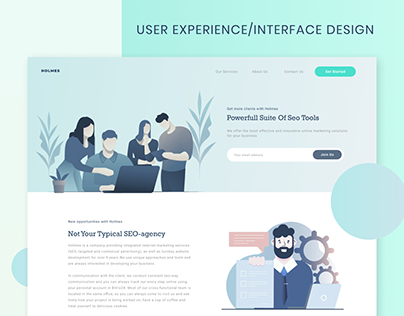 User Experience & User Interface Design for Holmes
