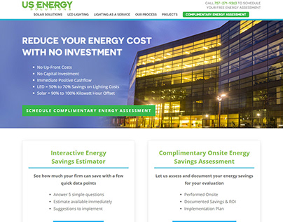 US Energy - Homepage Redesign