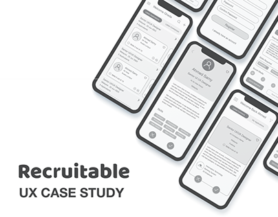 Recrutable App Wireframe