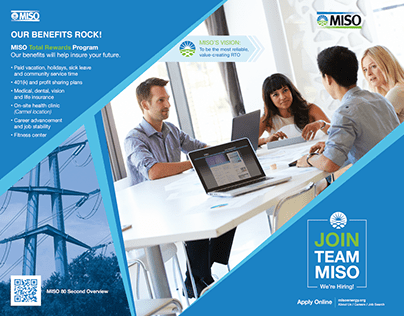 MISO Recruitment Trifold + Display Case Graphic
