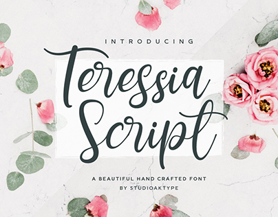 Teressia Script Hand Crafted Font