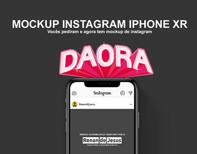 Mockup Instagram Iphone Xr