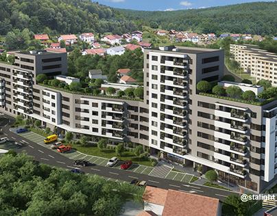 """Визуализация ЖК """"Noua Residence"""" Трансильвания, Румыния"""