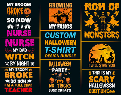 Custom Halloween T-shirts Design