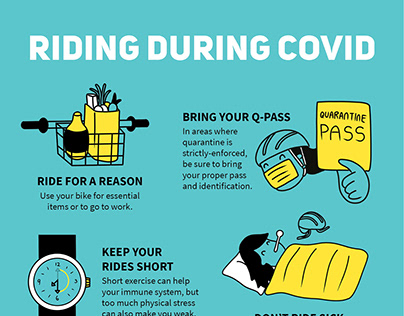 Riding during COVID infographics