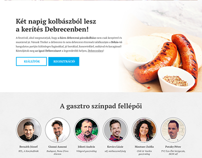 Debrecziner - website design