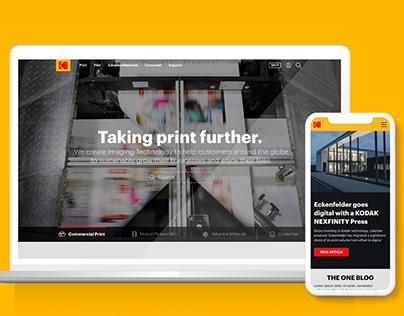 Kodak Website Redesign
