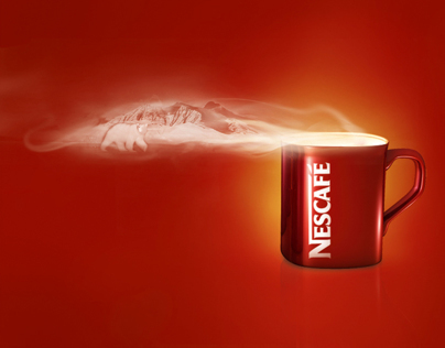 The red mug of help Nescafe