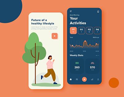 Fitness Activity Tracker App Design