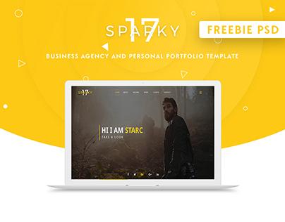 Sparky17-PSD Template Freebie