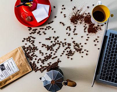 Coffee and creativity equals photo session