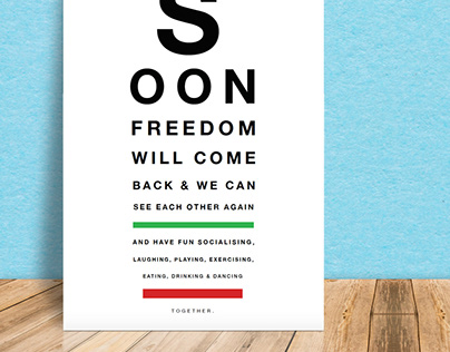 'Soon' Creatives Against Covid 19 Poster