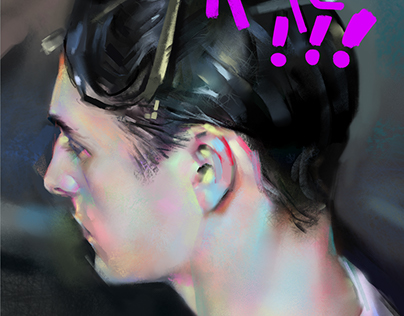 Quick Photo Study,Portrait Painting,with video process