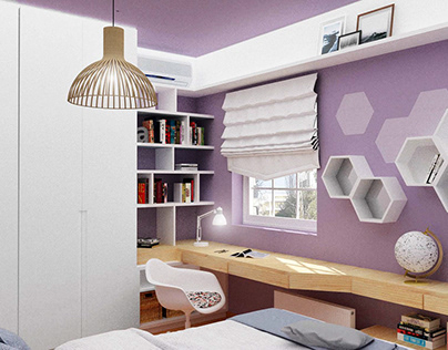 Interior Design of a teenage bedroom