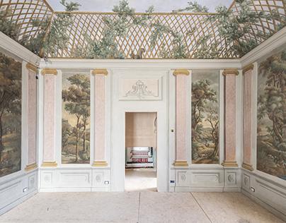 Il restauro degli affreschi di Villa Bibbiani