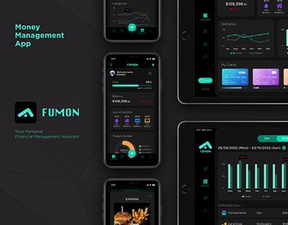 FUMON (Money Management App) | UI/UX Design