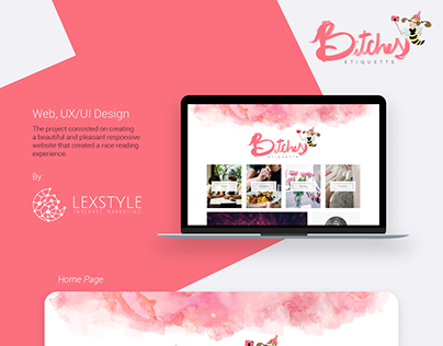 Bitches Etiquette Web, UI/UX Design