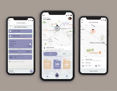 Fuel ⛽ Delivery Mobile App UI