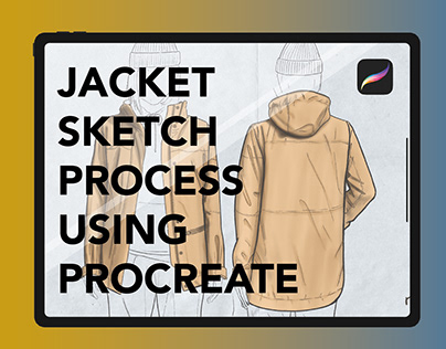 Jacket Sketch Process Using Procreate on The Ipad Pro