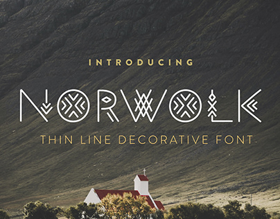 Norwolk - Thin Line Decorative Font
