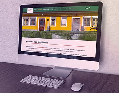 Website Ferienwohnungen Moitz