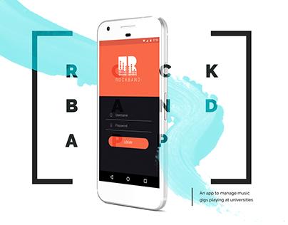 Rockband (App UI design)