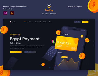 Egy Pay UI Design | Free Download