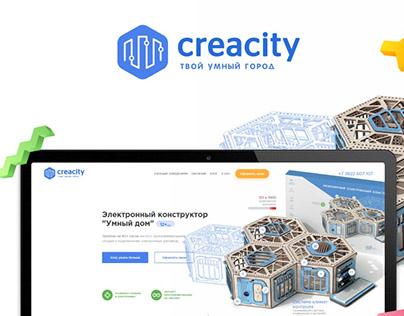 Commercial educational portal for children's designer