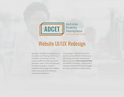 ADCET Website UI/UX Redesign